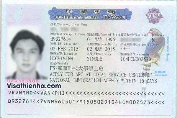 Dịch vụ xin visa đi Đài Loan trọn gói giá rẻ tại TPHCM