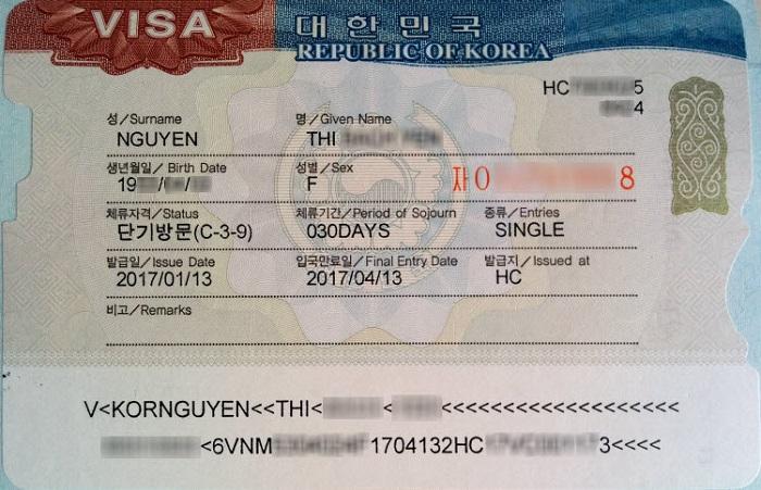 Thời hạn visa Hàn Quốc
