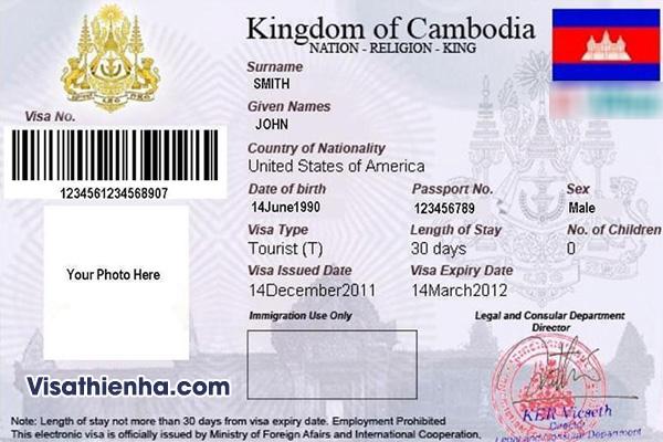Xin Visa Campuchia cho người nước ngoài