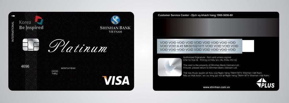 Làm thẻ Visa Platinum Shinhan để miễn Chứng minh tài chính