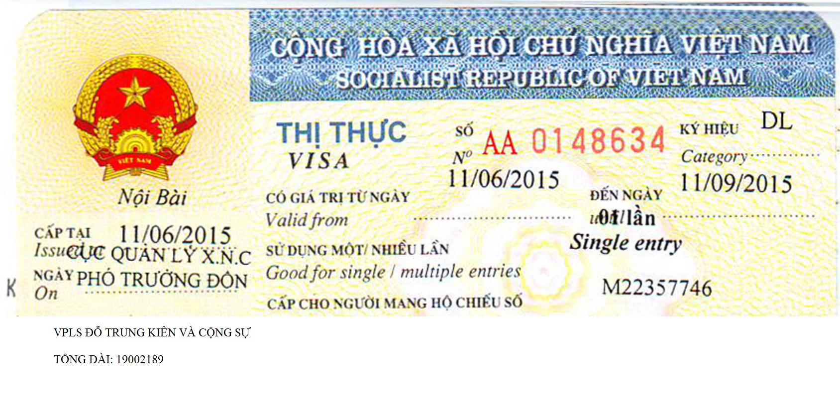 Visa du lịch cho người nước ngoài vào Việt Nam